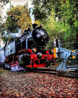 Train, Railway, Motor, Railway Line, Transport System