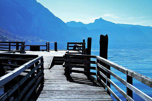 Web, Water, Mountains, Nature, Boardwalk, View