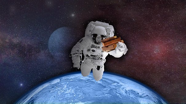 Astronaut, Space, World, Earth, Books, Reader, Universe