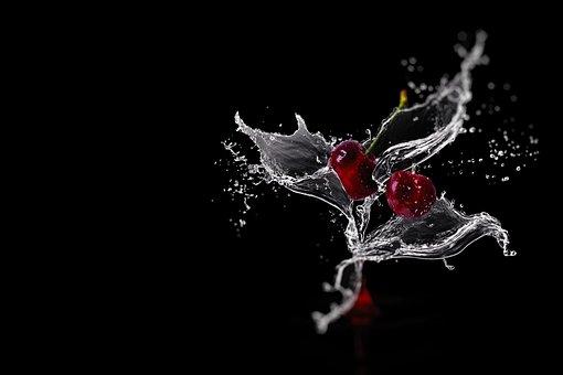 Fruit Juice, Cherry Juice, Water Flowers, Water