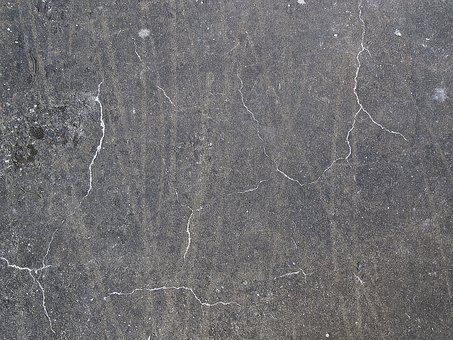Concrete Wall, Cracks, Background, Structure, Texture