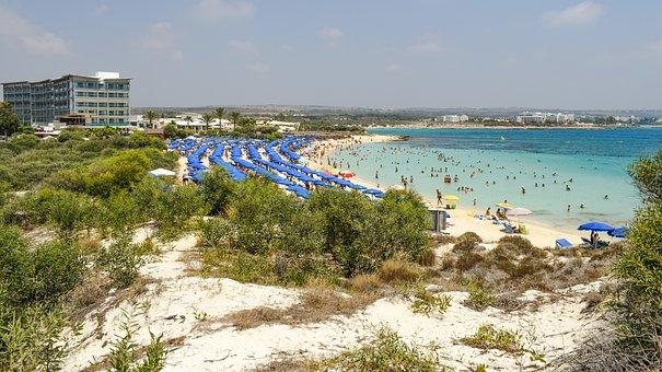 Cyprus, Ayia Napa, Makronissos Beach, Beach, Resort