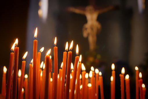 Candles, Faith, Reflection, Cross, Prayer Candles