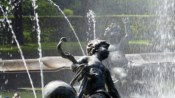 Fountain, Water, Figures, Fountain City, Water Games