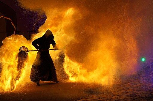 Fire, Night, Light, Fireworks, Burn, Flame, Sylvester