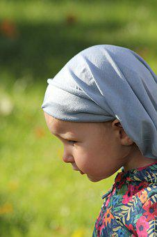 Child, Girl, Scarf, One, Tenderness, Young, Lady, Face