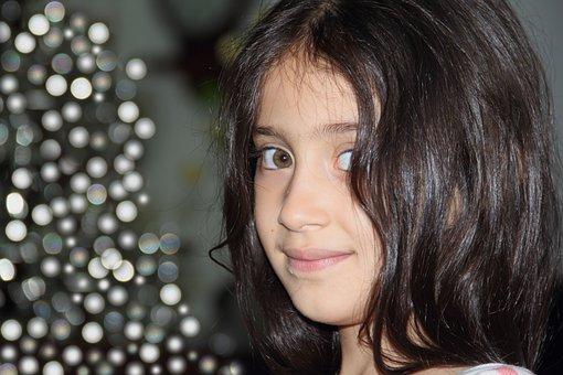 Face, Little, Girl, Smile, Cute, Happy, Look, Female