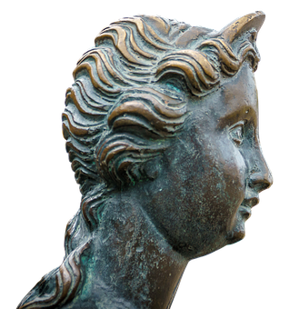Woman, Head, Bronze, Hair, Of Course, Face, Young Woman