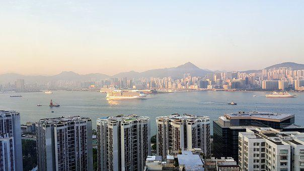 Victoria Bay, View, Hong Kong, City, Harbour, Cityscape