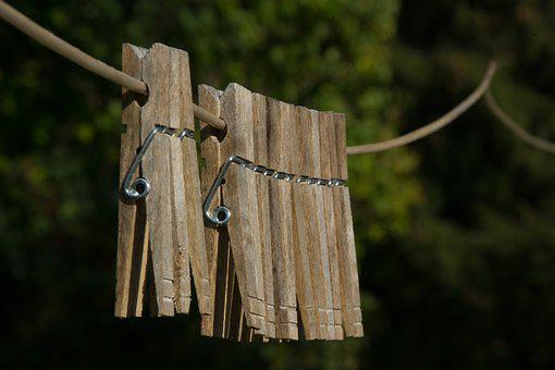 Clothes Pins, Clothes Line, Hang, Line, Pin, Macro