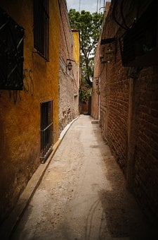 Perspective, Alley, Street, Hall, Mexico, Old