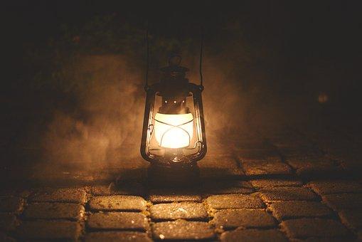 Lamp, Haze, Night, Mystical, Dark, Surface Structures