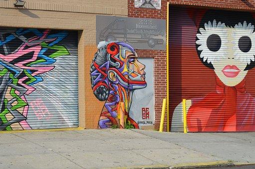 Nyc, Street Art, Brooklyn, Urban, New York, Graffiti