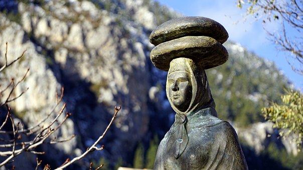 Statue, Bronze, Monument, Sculpture, Figure, Women