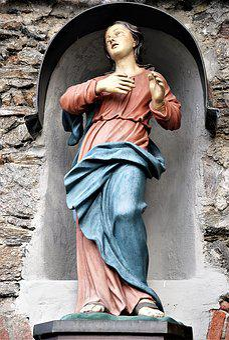 Sculpture, Catholic, Christianity, Virgin Mary, Statue