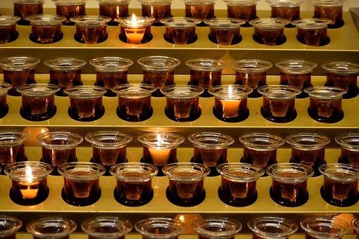 Votive Candles, Spiritual, Holy, Flame, Votive, Fire