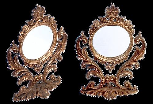 Mirror, Antique Mirror, Watch, Accessory, Reflection