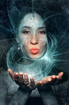 Fantasy, Book Cover, Portrait, Woman, Hands, Kiss