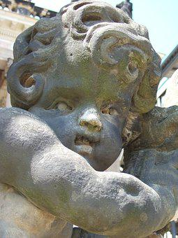 Cherub, Angel, Statue
