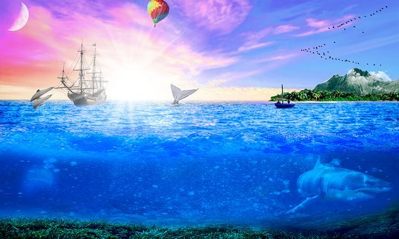 Ocean, Sea, Nature, Water, Blue, Tropical, Wave