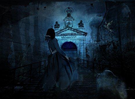 Haunting, Night, Cemetery, Halloween, Scary, Haunted