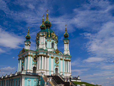 Church, Temple, Cathedral, Dome, Cross, Sky, Blue, Bell