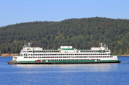 Ferry, Washington State, Puget Sound, Ocean, Inlet