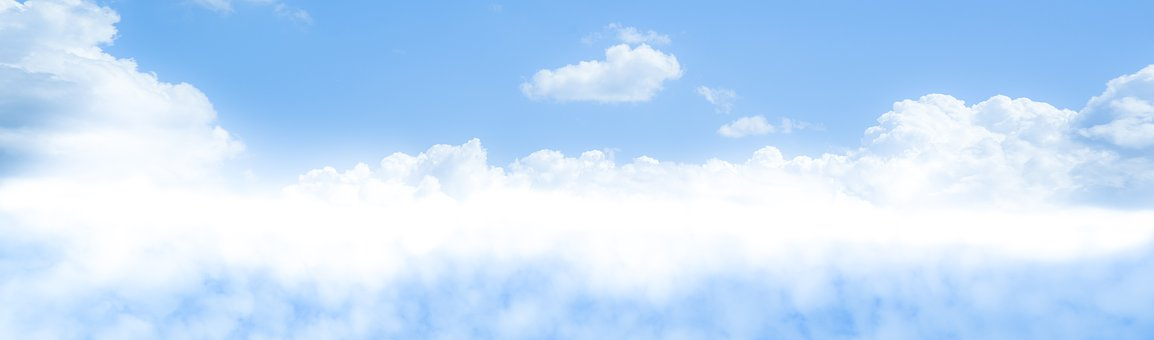 Blue, Sky, Merge, Clouds, Fluffy, White, Soft