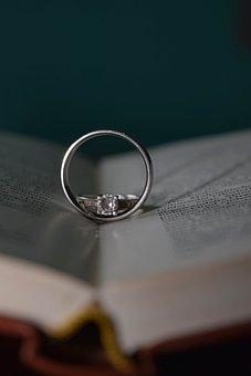 Ring, Book, Wedding, Love, Couple, Cute Romantic