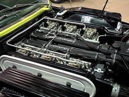 Engine, Lamborghini, Car Classic, Mechanical