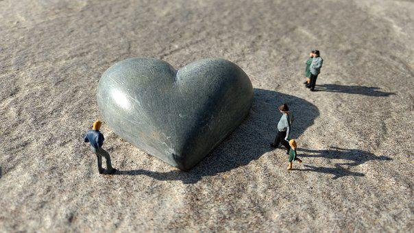 Miniature Figures, Heart, Stone, Heart Breaker