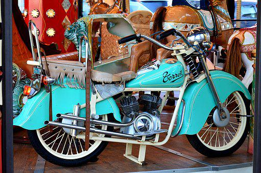 Motorcycle, Moto Terrot, Manege, Motorcycle Child