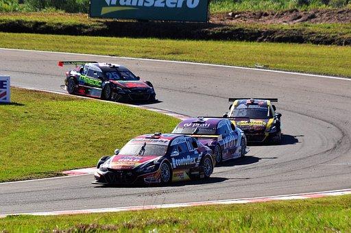 Motoring, Race, Car, Stock Car, Racetrack, Speed