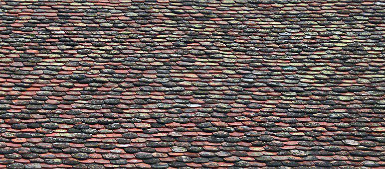 Shingle Roof, Old, Weathered, Renewed, Replaced