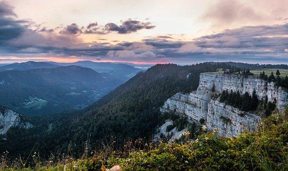 Colored The Horizon, Switzerland, Nature, Rock Boiler