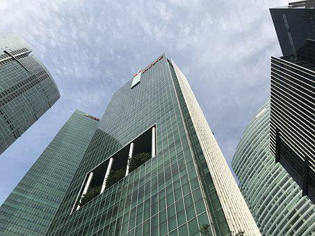 Singapore, Cbd, Sky, Skyscraper, City, Architecture