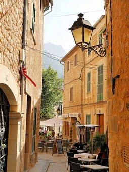 Spain, Mallorca, Mountains, Bergdorf, Alley, Valdemosa