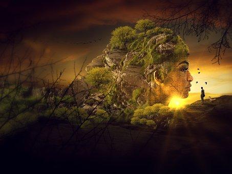 Surreal, Sunset, Delusion, Fiction, Illustration
