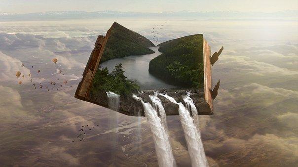 Dreams, Fantasy, Art, Surreal, Cloudy Sky, Fairy Tale