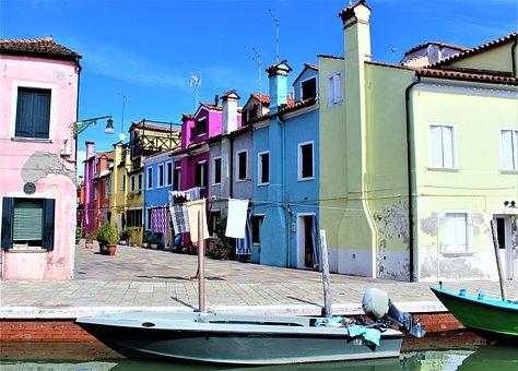 Venice, Italy, Burano, The Venice Lagoon, Lagoon