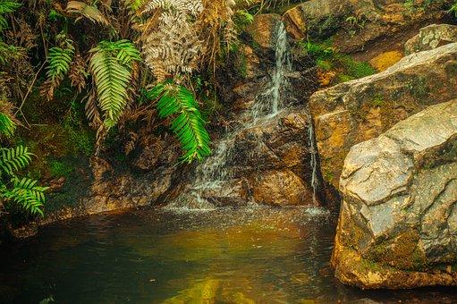 Waterfall, Cascade, Water, Rocks, Nature, Landscape