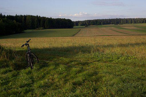 Bike, Landscape, Fields