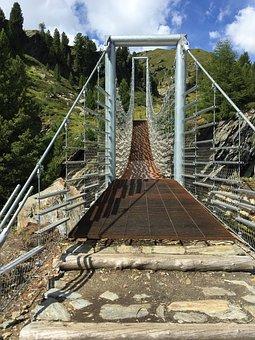 Suspension Bridge, Bridge, Building, Steel Cables