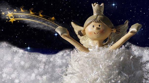 Angel, Father Christmas, Christmas, Christmas Eve