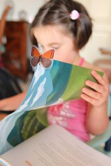 Reading, Little Girl, Book, Education, Studio, Culture