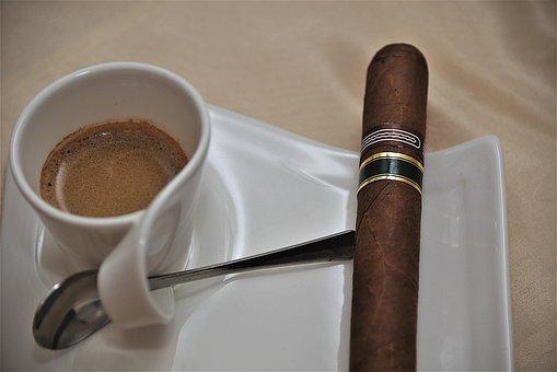 Cigar, Espresso, Coffee, Datailaufnahme, Cup, Porcelain