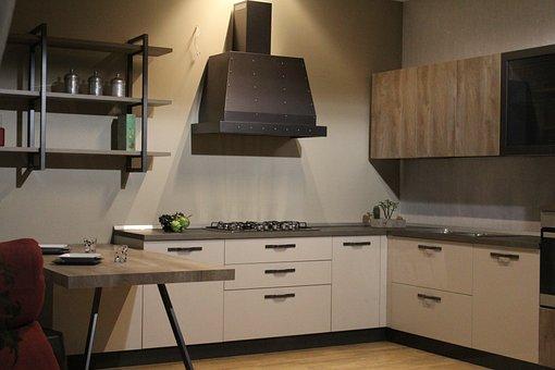 Kitchen, Furniture, Interior, Cook, Modern Kitchen