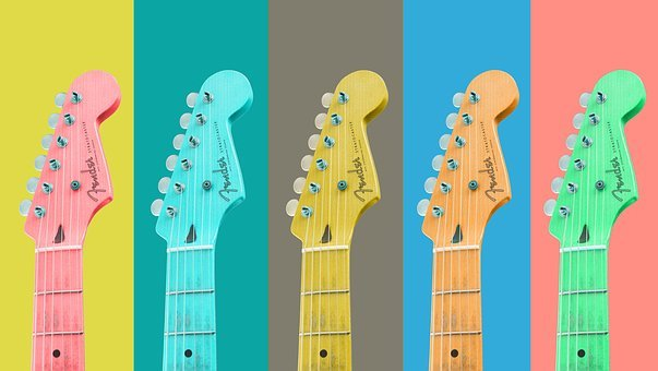 Colorful, Guitars, Color Combinations, Music, Rock