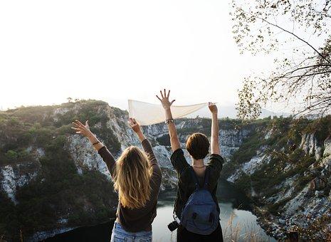 Joy, Holidays, Carefree, Travel, Landscape, Together