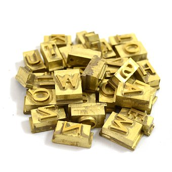 Letters, Hot Stamping, Brass
